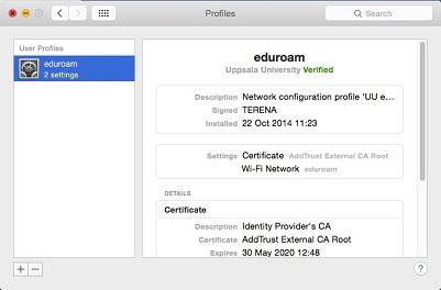 certificato eduroam