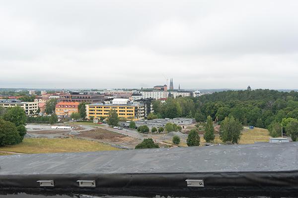Utsikt från taket på nya hus 10 i Ångström.