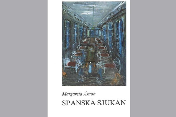 The book cover with an illustration of a hospital ward.